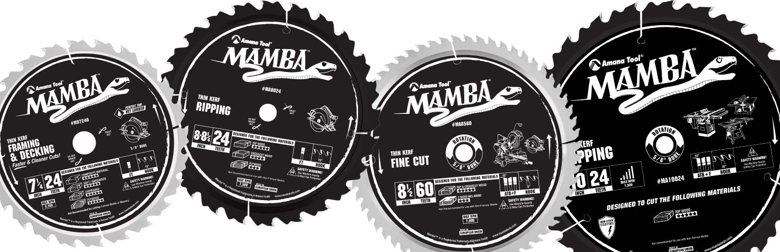 Mamba Contractor Series Thin Kerf Saw Blades