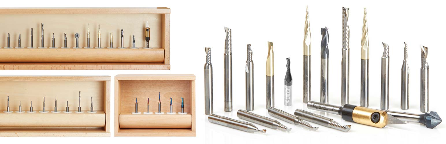 Aluminum, Steel & Plastic Cutting CNC Router Bit Sets