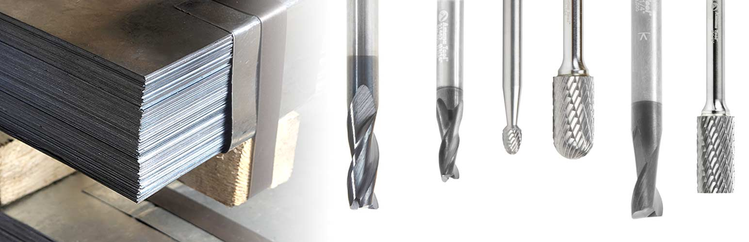 Stainless Steel Metal Cutting Router Bits End Mills & Burr Bits
