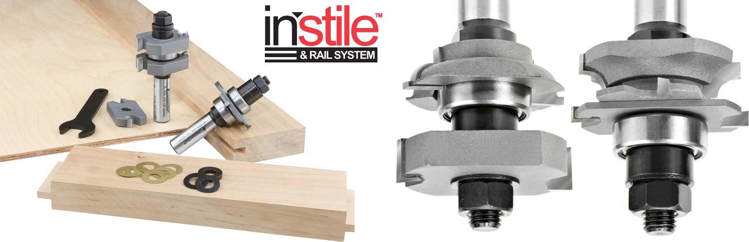 Instile & Rail Adjustable Router Bit Sets