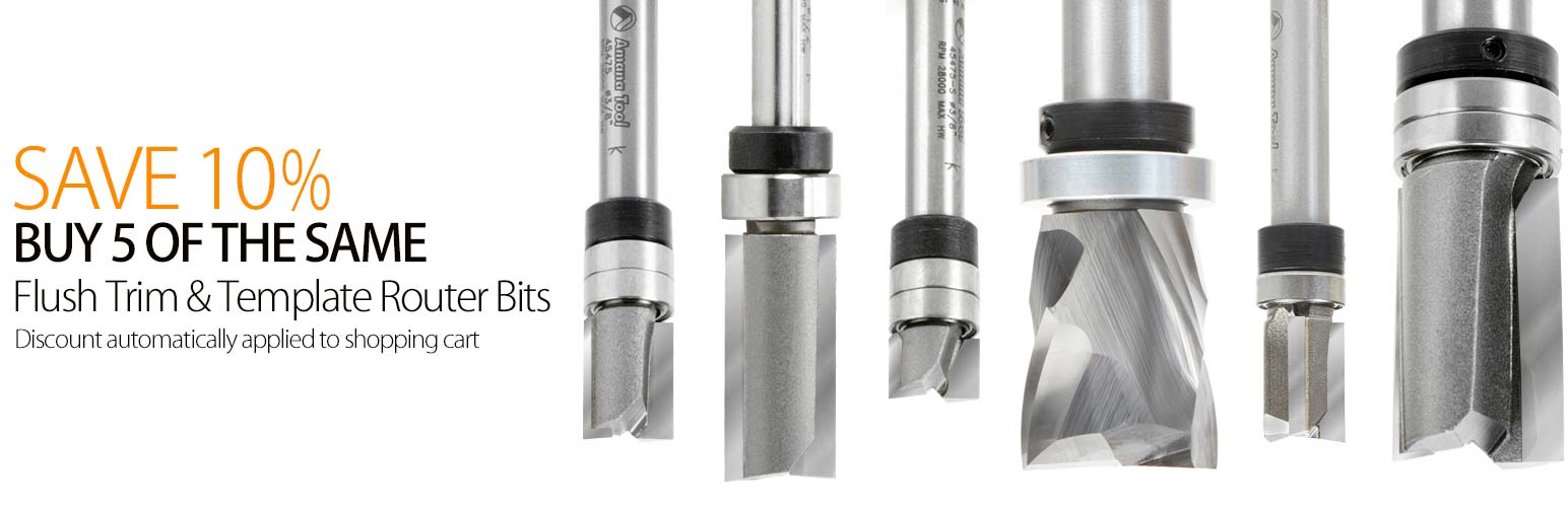 Template Pattern Router Bits