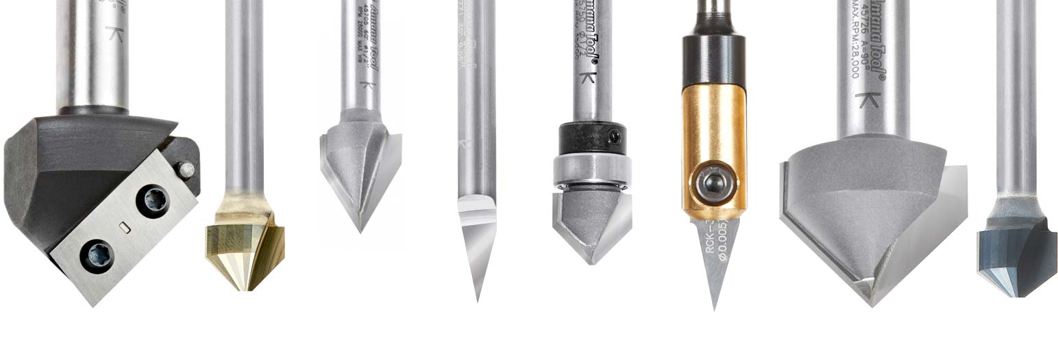 V Groove Router Bits