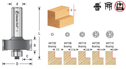 Multi Rabbit Router Bits 4 Amp 5 Different Rabbet Depths