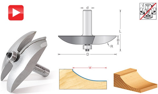 Cove Raised Panel Router Bits - Toolstoday.com - Industrial ...