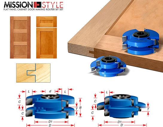 Stile \u0026 Rail Cabinet Door Cutter Sets - Toolstoday.com - Industrial Quality Carbide Tipped Cutters  sc 1 st  ToolsToday & Stile \u0026 Rail Cabinet Door Cutter Sets - Toolstoday.com - Industrial ...