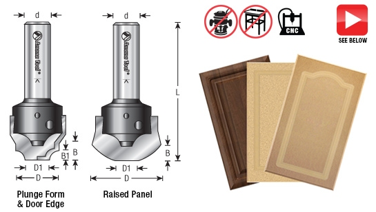 Cnc Simulated Mdf Raised Panel Door Router Bits Toolstoday