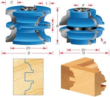 Stile Amp Rail Shaper Cutter Sets For 2 1 8 Material