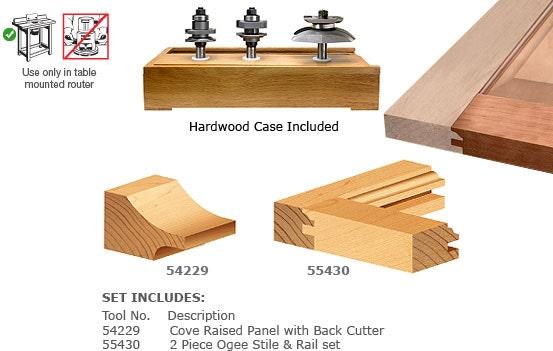 3 Piece Door Making Router Bit Set -ToolsToday- Industrial Quality Door Making Sets  sc 1 st  ToolsToday & 3 Piece Door Making Router Bit Set -ToolsToday- Industrial Quality ...