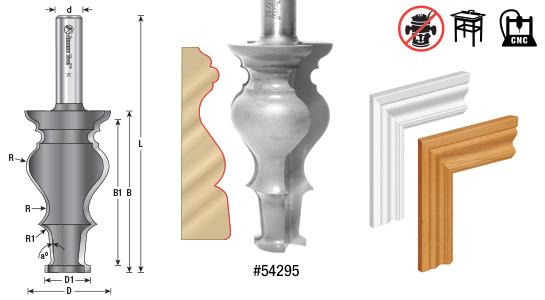 Colonial Door Casing Router Bits (Door U0026 Window Opening Moldings)   ToolsToday.com