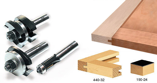 3 Piece Tongue Groove Cabinet Door Making Router Bit Set