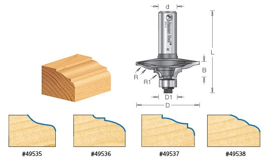Cabinet Door Edge Front Face Edge Router Bits