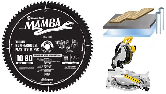 Mamba Thin Kerf Laminate Flooring Non Ferrous Plastic Pvc Contractor Series 10 Inch And 12 Saw Blades Toolstoday Com