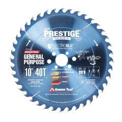 Amana Tool PR1040-30C Electro-Blu Carbide Tipped Prestige 10 Inch D 40T ATB, 18 Deg, 30mm Bore, Non-Stick Coated Circular Saw Blade