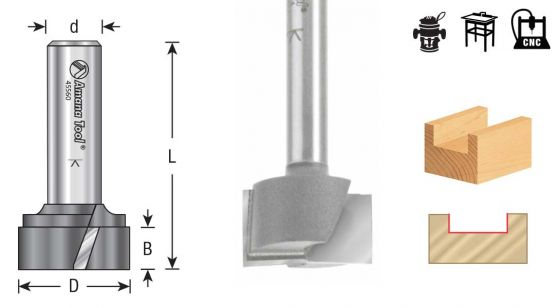 Bottom Cleaning / Spoilboard Router Bits-Upshear Design