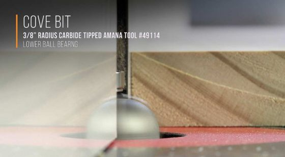 Cove with Ball Bearing Guide Router Bits