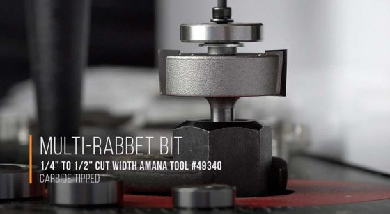 Multi-Rabbet Router Bits - Five Different Rabbet Depths - 2 Flute