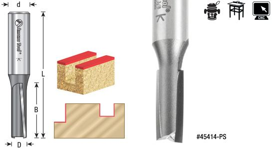 High Production 3?? Down Shear Straight Plunge Router Bits Amana Tool