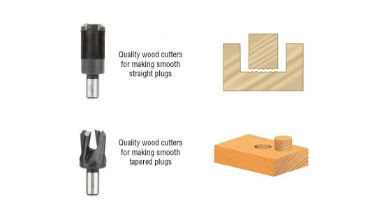 8-Piece Plug Cutter Set in Wooden Box
