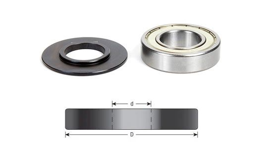 Insert Shaper Cutter Accessories - Ball Bearing w/ Retainer