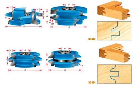Stile & Rail Cabinet Door Cutter Sets for 3/4 Inch Material - Ogee