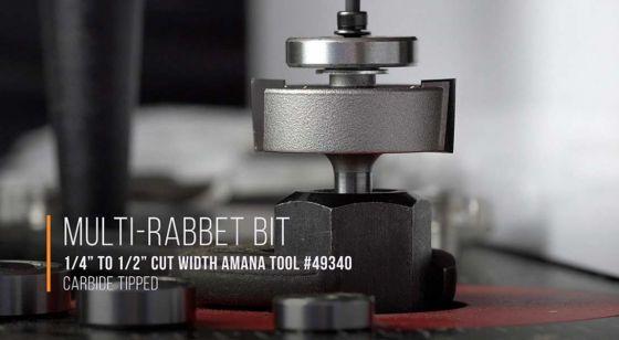 Multi-Rabbet Router Bits - Five Different Rabbet Depths - 2 Flute