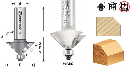 Chamfer Router Bit  toolstoday