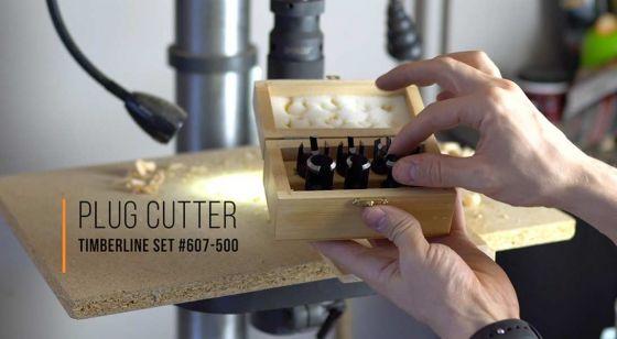 8-Piece Plug Cutter Set in Wooden Box