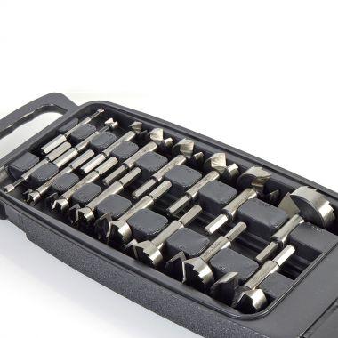 16pc Forstner Bit Set in Handy Carrying Case