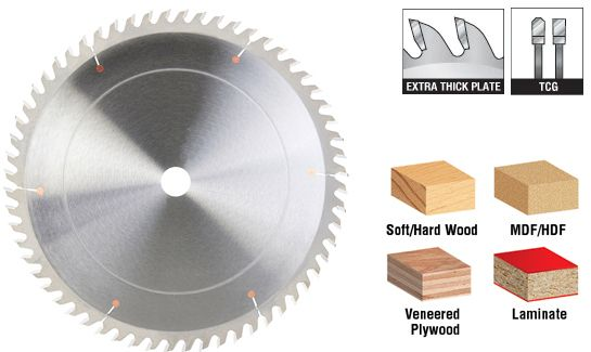 Extra Thick Plate Laminate, Plywood, MDF and Chipboard Cutting Saw Blades