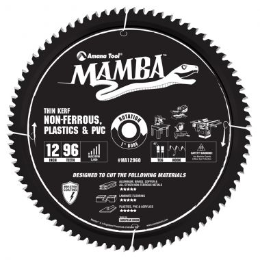 Amana Tool MA12960 Carbide Tipped Thin Kerf Laminate Flooring, Non-Ferrous cutting saw blade