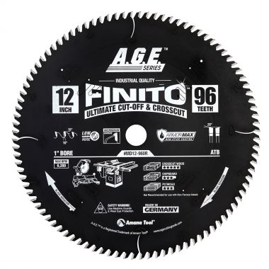 AGE MD12-960R Carbide Tipped Finito Ultimate Cut-Off and Crosscut Armormax-Coated Circular Saw Blade