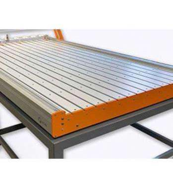 Shown with Optional Standard MDF/Aluminum T-Track Table