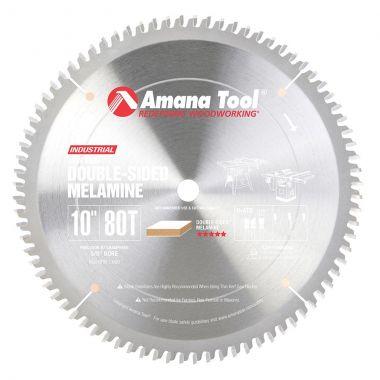 Amana Tool MSB1080 Carbide Tipped Double-Face Melamine 10 Inch D x 80T H-ATB, -2 Deg, 5/8 Bore, Circular Saw Blade