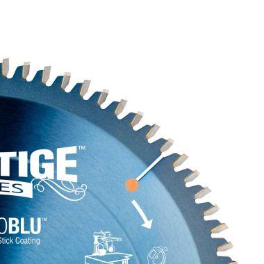 Amana Tool MB10800C Electro-Blu Carbide Tipped Prestige Double-Face Melamine 10 Inch D x 80T H-ATB, -6 Deg, 5/8 Bore, Non-Stick Coated Circular Saw Blade
