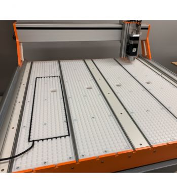 Shown with Optional 4 Zone Vacuum Table