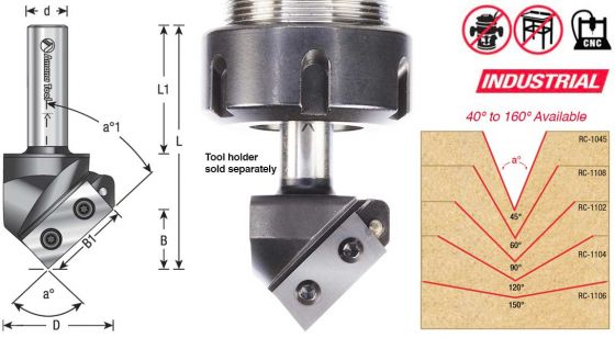 CNC Insert V-Groove router bits