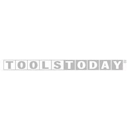 Amana Tool 47406 Carbide Tipped 4 Wing Single Bevel Trim Cutter Assembly 15 Deg Angle x 1 Inch D x 1/4 CH x 1/2 SHK w/ Lower Ball Bearing Router Bit