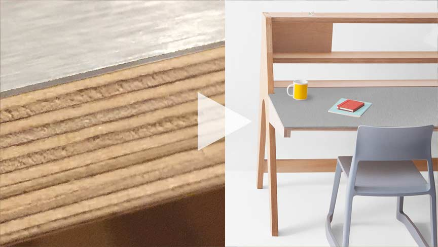 CNC Cut Plywood to Create Lift Standing Desk