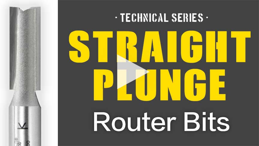 Straight Plunge Router Bit | Amana Tool Technical Series Video by ToolsToday, Your Source for Industrial Cutting Tools