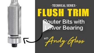 Flush Trim with Lower Ball Bearing Router Bit Video | Amana Tool Technical Series