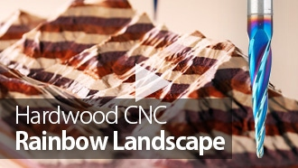 CNC Project: Machining a Rainbow Landscape from Hardwood