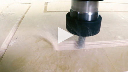 Amana Tool® #45422 Running at 590 IPM on Birch Plywood