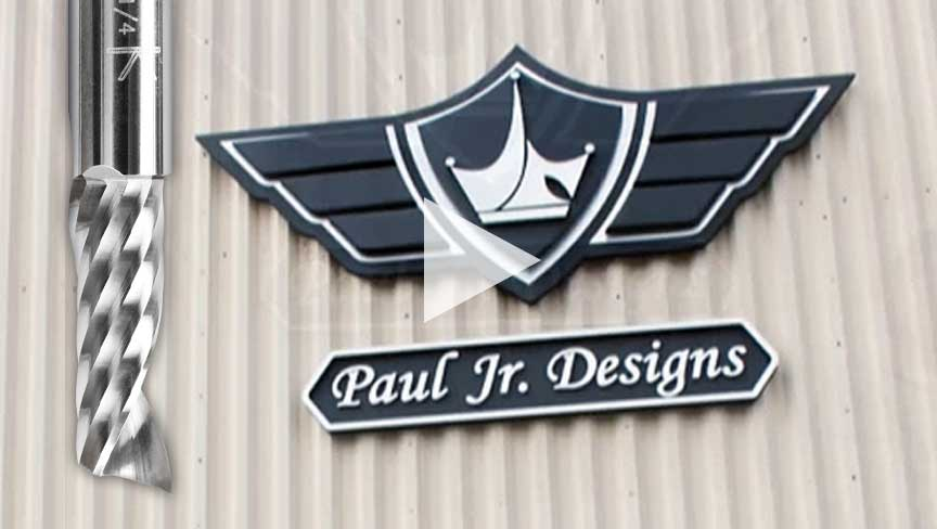 Melissa Jones from Nice Carvings Creates Sign with Amana Tool CNC Router Bits for Paul Jr. Designs