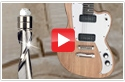 Electric Guitar Built Using Industrial CNC Router Bit Collection AMS-132