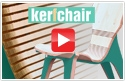 Kerf Chair, Designed by Boris Goldberg, Using Amana Tool CNC Compression Spiral Bits