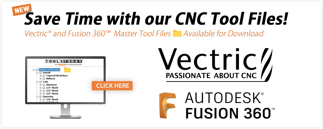 Free Vectric and Fusion 360 CNC Tool Files