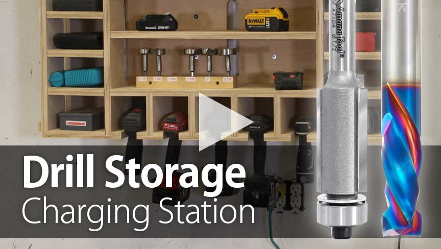 CNC Project: Building a Drill Storage Charging Station