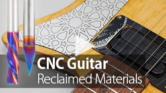 CNC Upcycling Project: Making a Guitar from Reclaimed Materials with Amana Tool Spektra Coated Router Bits Video