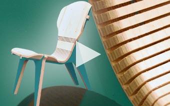 cnc video kerf chair