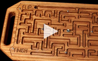 cnc video marble maze